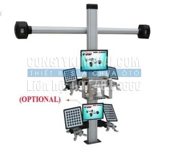 Thiết bị kiểm tra góc đặt bánh xe màn hình hiển thị LCD 3D-I